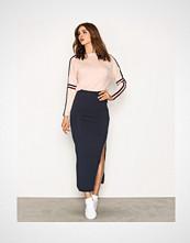 Vila Blå Vihonesty New Maxi Slit Skirt-Noos