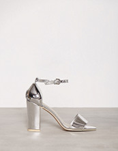 NLY Shoes Sølv Block Heel Sandal