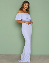 NLY Eve Blå Frill Crepe Gown