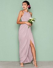 NLY Eve Beige Drapy Slit Gown