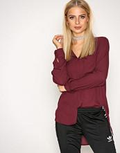 Selected Femme Mørk lilla Slfdynella Ls Shirt Noos