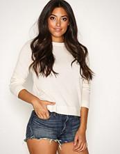 Selected Femme Hvit Sfaya Cashmere Ls Knit O-Neck