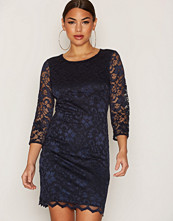 Only Mørk blå onlNICE Lace Dress Back Open 3/4 Wv