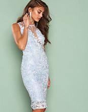 Ax Paris Light Blue Dreamy Lace Dress