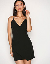 Missguided Black Strappy Wrap Detail Shift Dress