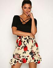 Missguided Multi Frill Hem Crinkle Skirt