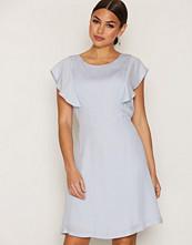 Selected Femme Blå Sftora Ss Dress Ex