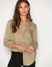 Polo Ralph Lauren Olive Relaxed Long Sleeve Shirt