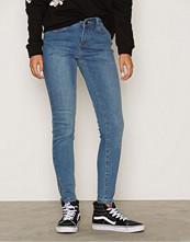 Vero Moda Blå Vmseven Nw Slim Zip Ankle J GU200 N
