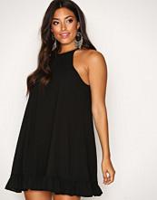 Glamorous Black Flounce Bottom Dress