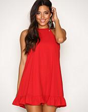 Glamorous Red Flounce Bottom Dress
