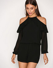 Michael Kors Black Cold Shoulder R Playsuit
