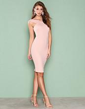 Ax Paris Pink Cross Over Bodycon Dress