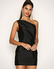 Missguided Black Ruffle One Shoulder Bodycon Dress