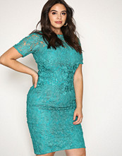 Little Mistress Jade Short Sleeve Lace Dress