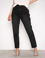 Vila Svart Vikanma Hw 5P 7/8 Black Jeans