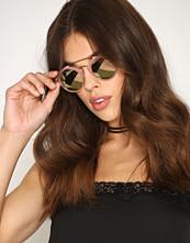 River Island Mink Tone Circle Lens Sunglasses