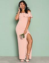 Ax Paris Blush Frill Bardot Maxi Dress