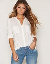 Only Hvit onlFIRST Ls Pocket Shirt Noos Wvn