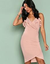 Ax Paris Blush Frill Wrap Dress