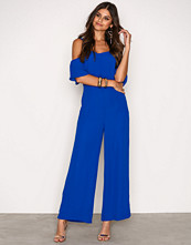 Glamorous Bright Cobalt Frill Strap Jumpsuit