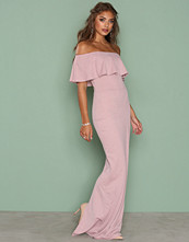 NLY Eve Mauve Frill Crepe Gown