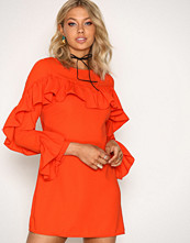 Glamorous Red Frill Sleeve Dress