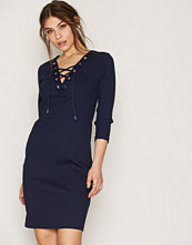 Polo Ralph Lauren Navy Lace Up Dress