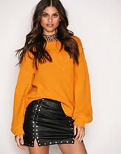 Missguided Black Popper Detail Mini Skirt