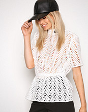 Selected Femme Hvit Sfcharline Ss Lace Top