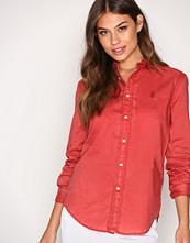 Polo Ralph Lauren Red Relaxed Long Sleeve Shirt