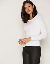 Only Hvit onlLOUI L/S Pullover Knt