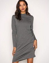 Vila Grå Vifaunas L/S High Neck Dress-Fav