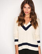 Polo Ralph Lauren Cream/Navy VN PO Sleeveless Sweater