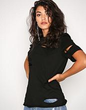 Glamorous Black Distressed T-Shirt