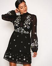 River Island Black Julia Embroided Dress