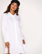 Object Collectors Item White/Spotted Objpoplin L/S Shirt Dress PB2