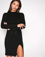 Glamorous Black Corset Lace Dress