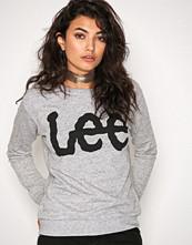 Lee Jeans Grey Melange Logo Sweatshirt