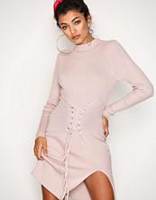 Glamorous Pink Corset Lace Dress
