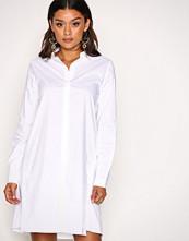 Object Collectors Item Hvit Objpoplin L/S Shirt Dress PB2