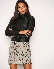Object Collectors Item Svart Objrake Leather Jacket Noos