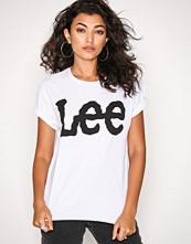 Lee Jeans White Logo Tee