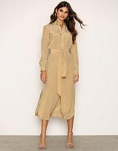 Polo Ralph Lauren Beige Long Sleeve Casual Dress
