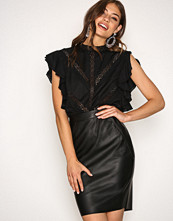 Vero Moda Svart Vmninea Hw Pu Abk Skirt Black Noos