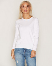 Gant White Sporty Stretch Cable Crew
