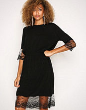 Jacqueline de Yong Svart Jdynancy 3/4 Lace Dress Wvn