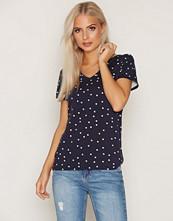 Gant Blue Dotted V-Neck T-Shirt