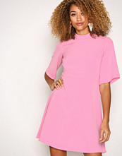 Closet Pink High Collar A-Line Skirt Dress