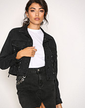 New Look Black Lace Up Jacket